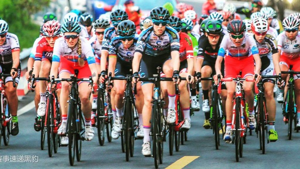 Å sykle verdenscup i Kina har sine utfordringer