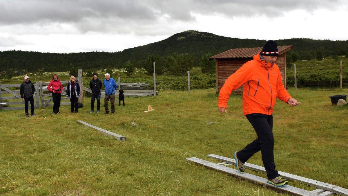 FULL INNSATS: Knut Leo Abrahamsen holder ikke noe tilbake i potetløypa.