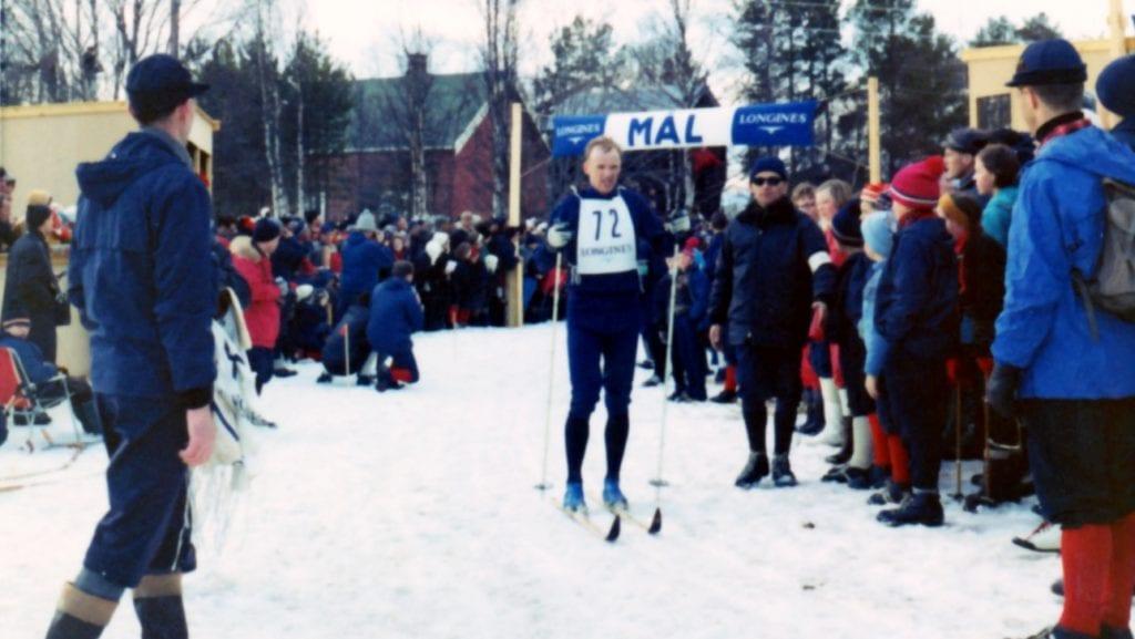 BLE NUMMER TO: Pål Tyldum ble nummer to under femmila som ble utsatt til påska grunnet kulde under NM-uka i 1969. Foto: Annar Avlesen.