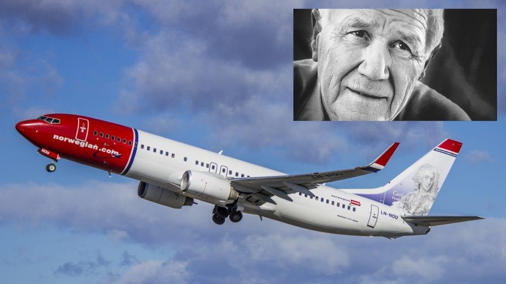 PÅ HALEN: Norwegian vil vurdere om Kjell Aukrust kan bli en av deres halehelter i forbindelse med Aukrusts 100-årsjubileum i 2020. Foto: Hans Olav Nygård/Norwegian/aukrust.no