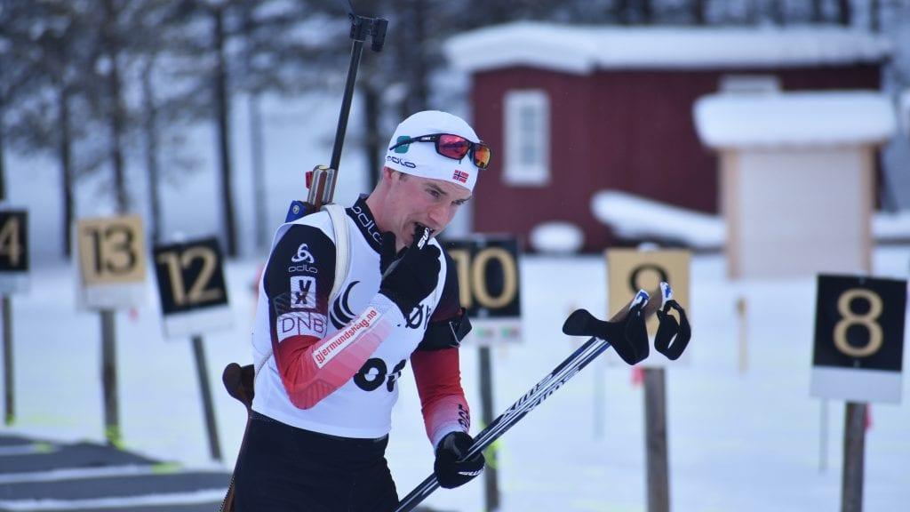 GOD PÅ STANDPLASS: Av 20 skudd bommet Vegard Bjørn Gjermundshaug kun en ganger under Østlandsmesterskapet i Stormoegga. Foto: Torstein Sagbakken.