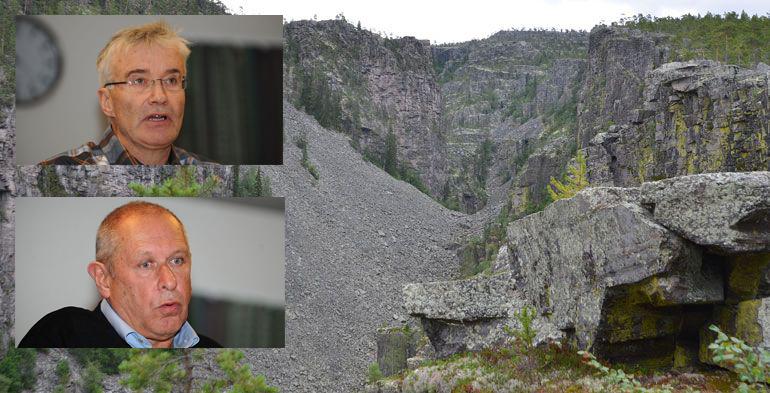 GRUNNGITT SPØRSMÅL: Audun Eggset (Sp) kommer med et grunngitt spørsmål til ordfører Johnny Hagen (Ap) om framtida til Jutulhogget. Arkivfoto: Ivar Thoresen/Randi Nørstebø.