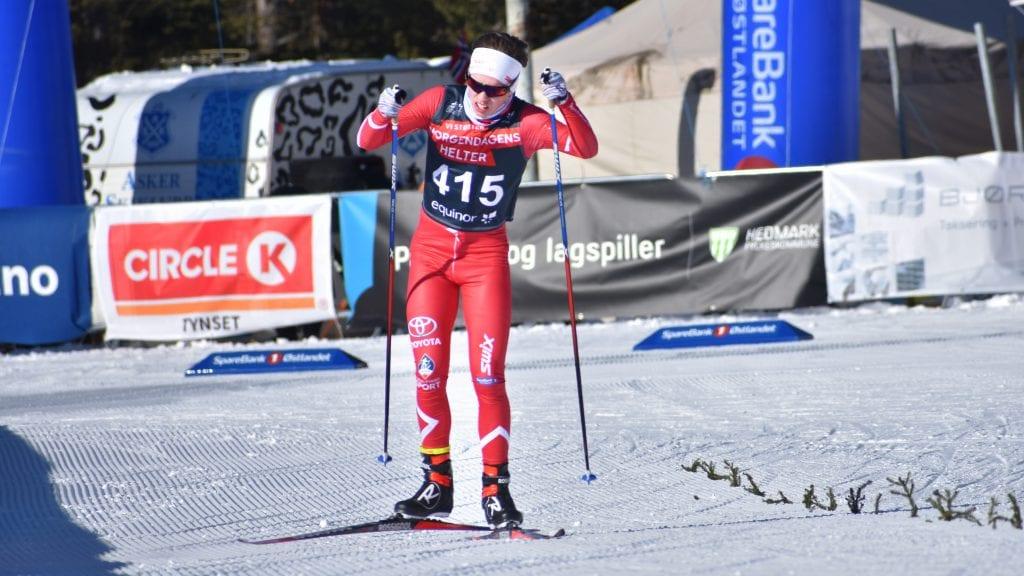 SLITSOMT: Brynjar Thorshaug kunne fastslå at det var harde løyper under junior-NM i langrenn på Savalen. Foto: Torstein Sagbakken.