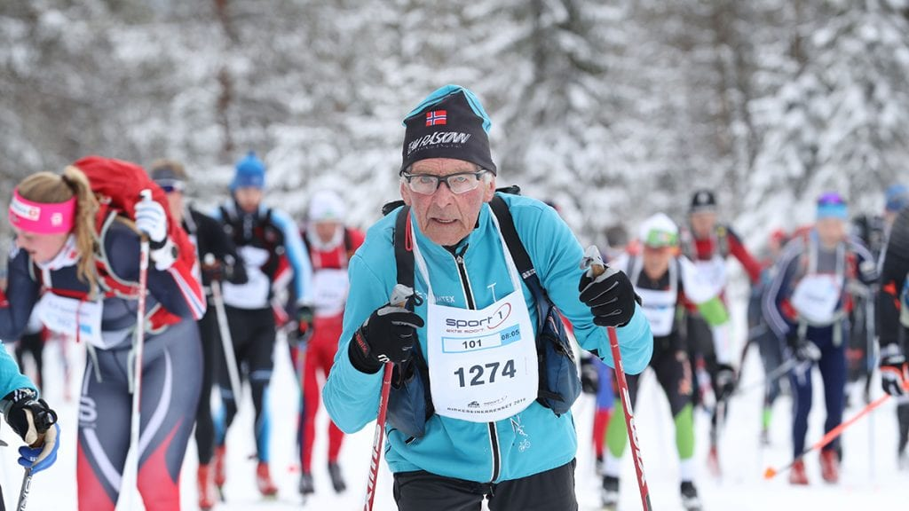 LAR PÅ NY: Gunnar Tronsmoen er optimist for å gå Birken som 90-åring i 2020. Foto: Birken.no