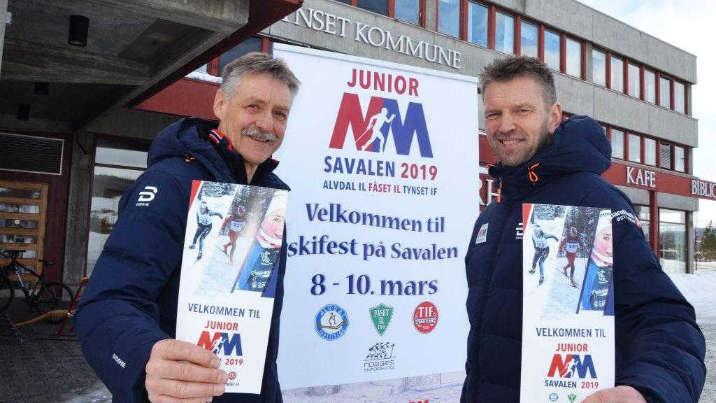 STORT: Geir Schjølberg og Per Inge Sagmoen er klare for NM og håper at mange i distriktet også tar turen til Savalen neste helg. Foto: Erland Vingelsgård