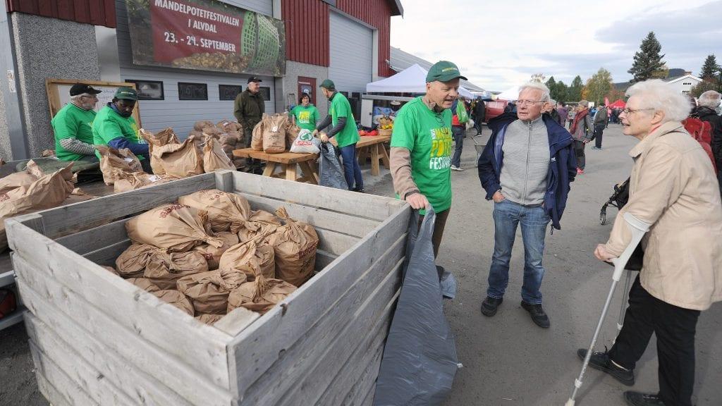 INNOVATIV FRIVILLIGHET: Norsk mandelpotetfestival trekkes fram av Alvdal kommune i søknad om støtte til næringsutvikling. Foto: Ivar Thoresen