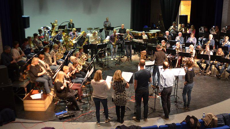 NM I KORPS: Alvdal-Tynset Janitsjarkorps deltok i helga på NM i korps. Foto: Erland Vingelsgård