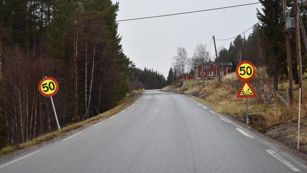 NY ASFALT: Omtrent 4,4 kilometer med asfalt vil bli lagt på Brannvålsveien i løpet av 2019. Foto: Torstein Sagbakken.