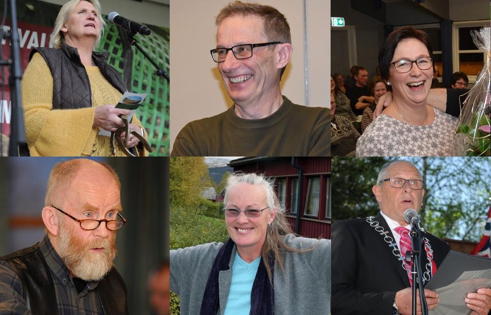 SEKS PARTIER: I Alvdal er det mulig å stemme på seks partier under høstens kommunevalg. Øverst fra venstre: Tirill Langleite (H), Ola Eggset (V) og Mona Murud (Sp). Foran fra venstre: Arne Dagfinn Øynes (KrF), Anne Vanem (MDG) og Johnny Hagen (Ap).
